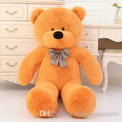 New arrival TEDDY BEAR STUFFED LIGHT BROWN GIANT JUMBO size:80cm 100cm 120cm 140cm 160cm 180cm 200cm birthday gift Christmas gift
