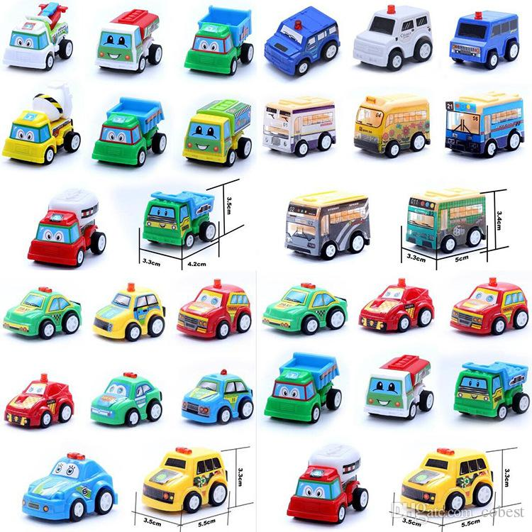 Pull Back Mini Cars Model Toys Children Racing Car Toys Mini Police car Fire Truck Airplane for Kids gifts
