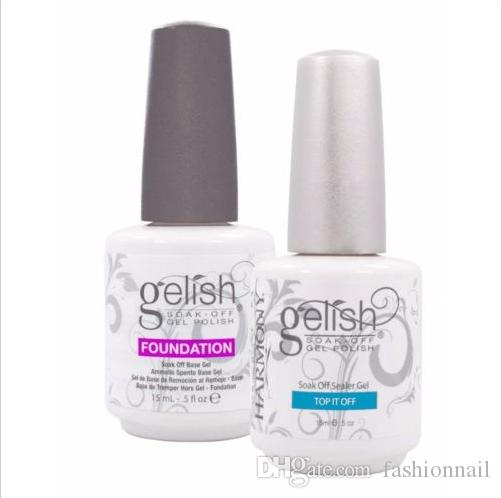 Harmony gelish polish LED UV nail art gel TOP it off and Foundation nails Top coat Base coat