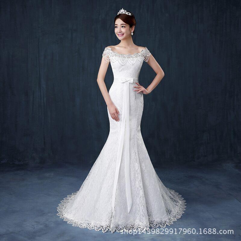 Popular New High End Fish Tail Wedding Bridal Dress Monkey