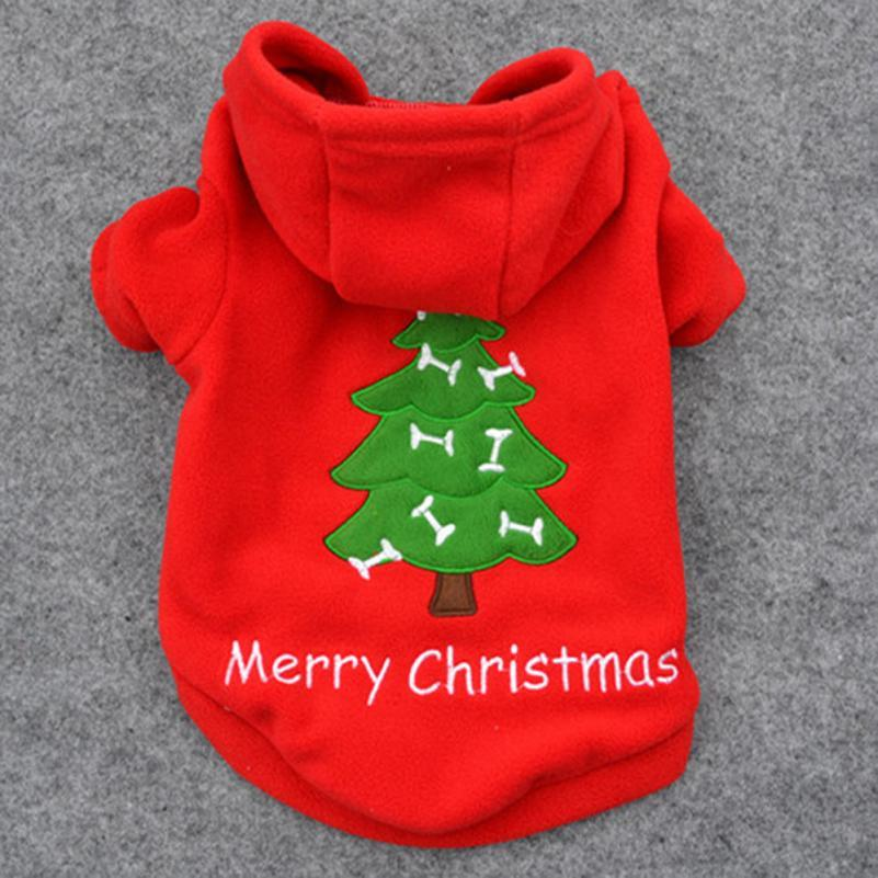 Hot sell Christmas Pet Puppy Dog Red Clothes Santa Claus Costume Outwear Thick dogs Coat Apparel t6726