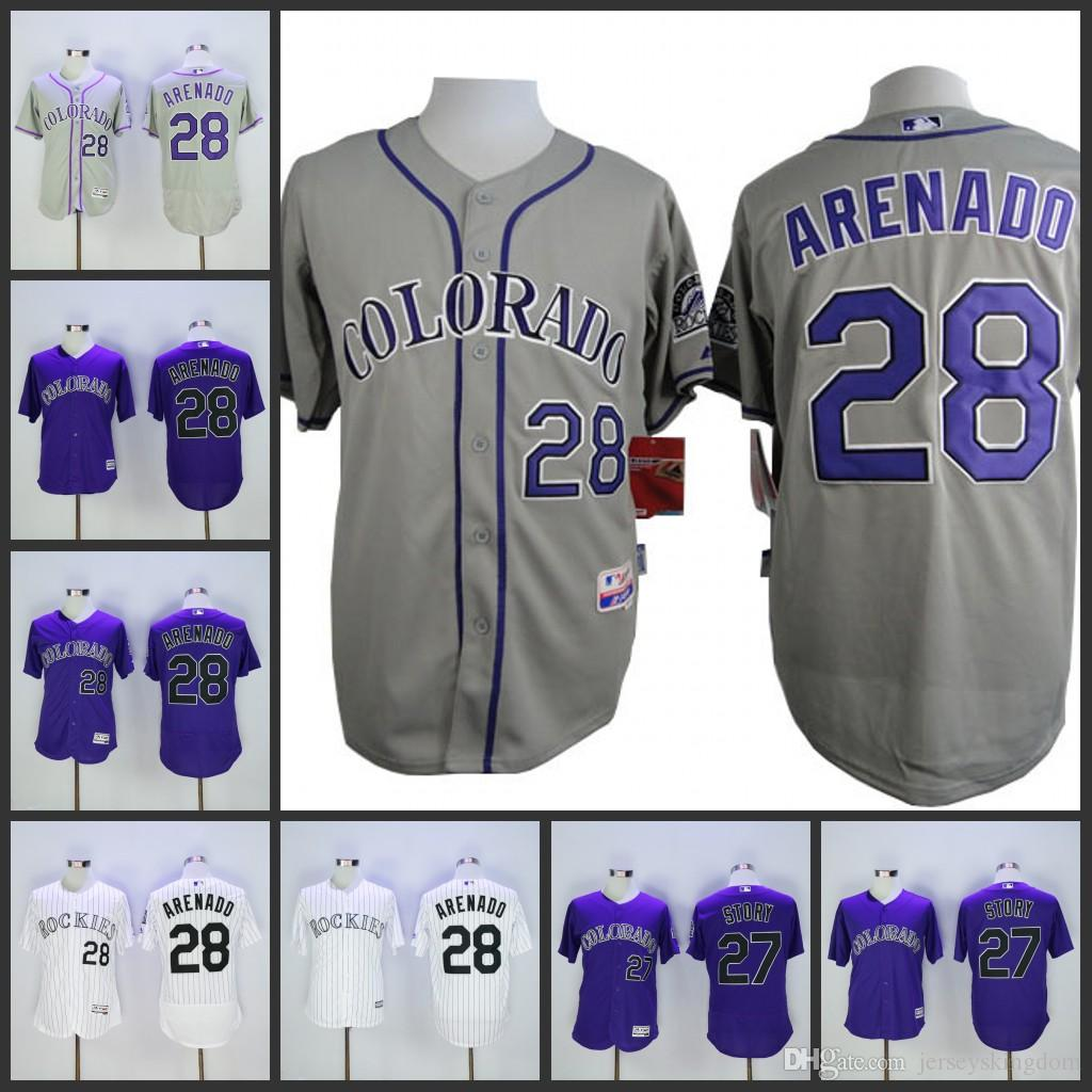 5aa379259 ... jersey 3f34a reduced base 2017 mens colorado rockies 28 nolan arenado  white grey purple stitched baseball flex cool ...