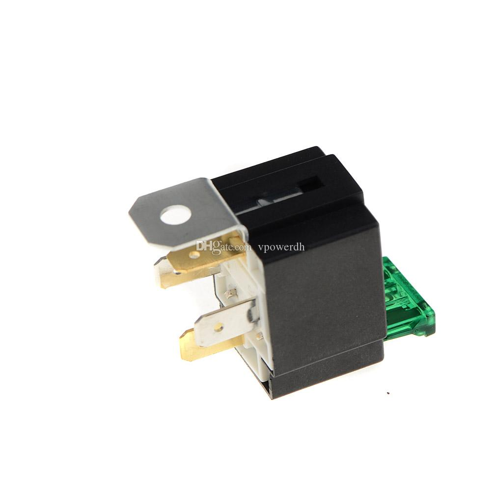 30 Amp 4 Pin Car Fuse Relé Spotlamps Spot Luz de Nevoeiro Base de Lâmpadas Caixa de Suporte M00052 VPRD