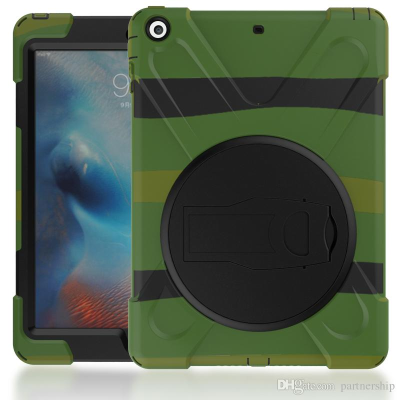 3 in 1 Defender waterproof shockproof Pirate Case Heavy Duty silicon cover for ipad air ipad 234 ipad mini with Stand Holder