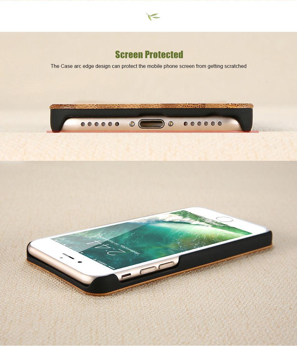 Echtes Holz Case für iPhone 7 Plus Multi-Korn Original Naturholz hart PC zurück glatt Touch Cover für iPhone 7 Fall