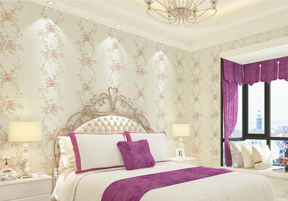 Acheter Non Tisse Pastorale Moderne Papier Peint Chambre Decoration