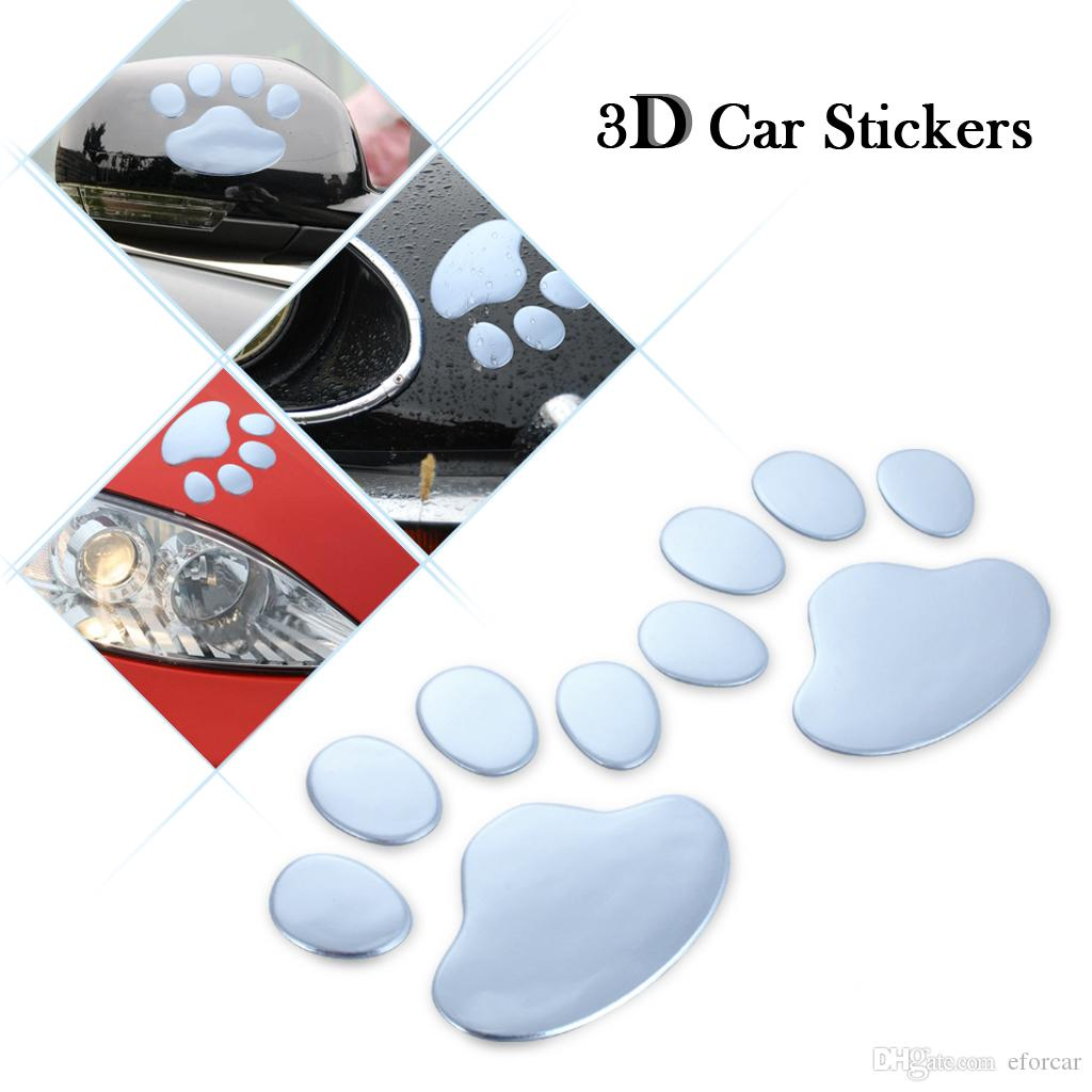 Car Funny Sticker 3D Auto Vehicle Footprint Cute PVC Paster Personalized Decor Multipurpose for Notebook Laptop Fashion Decoration Wholesale