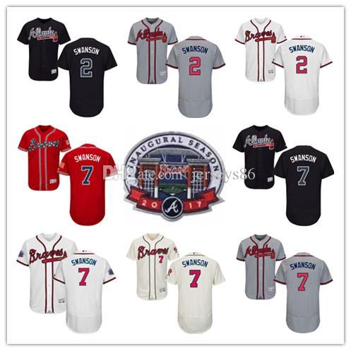 ... 2017 New Arrvial 7 Dansby Swanson Jersey Cheap Atlanta Braves MenS 2 Dansby  Swanson Baseball Jerseys ... 281926af523e