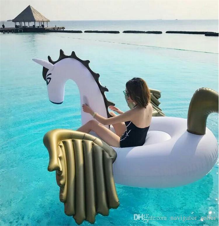 Moda Verano Flotadores Inflables Piscina de Agua Flotador Inflable Balsa Colchón de Aire Piscina de Natación Juguetes de Playa Unicornio Gigante Pegaso DHL / Fedex nave