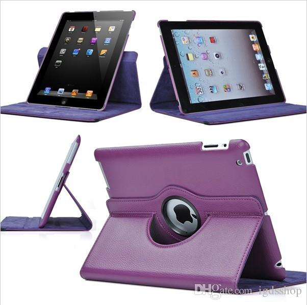 360 Rotating leather case Smart cover For iPad pro 10.5 9.7 air3 air 2 3 4 5 6 7 Mini 4 Rotary Stand