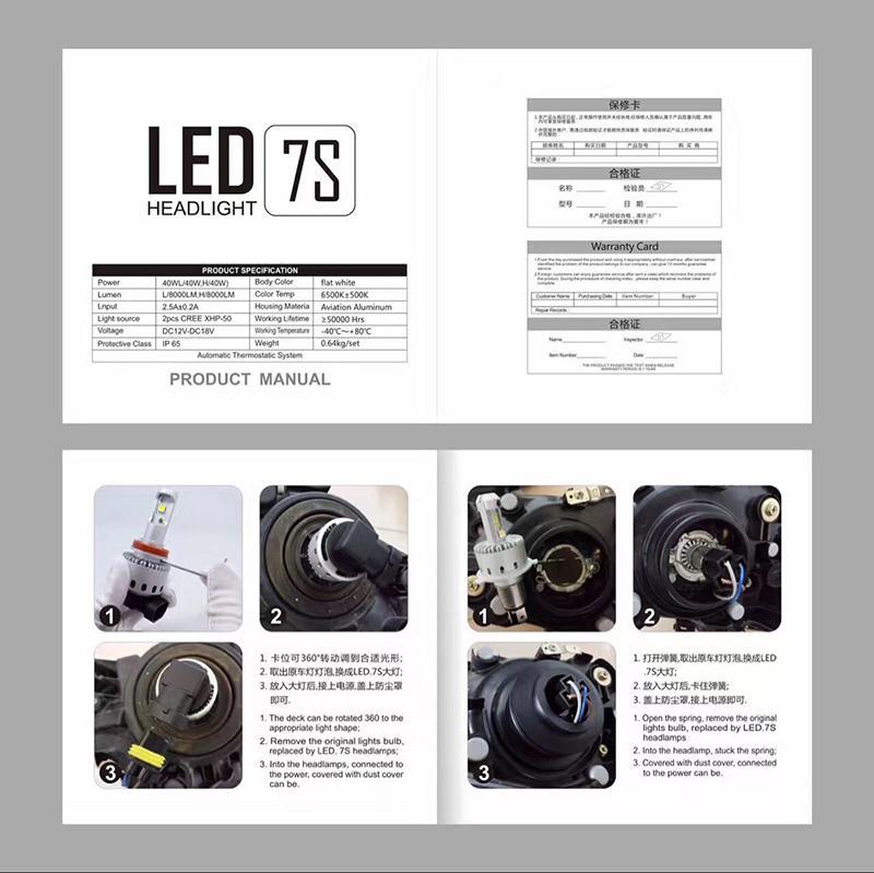 LED-Autoscheinwerfer-Birnen H7 40W 7000LMH4 \ H7 \ H8 \ H9 \ H10 \ H11 \ 9005 \ HB3 \ 9006 \ HB4 Fehlerfreie Superhelle Autolichter-Umrüstsatz