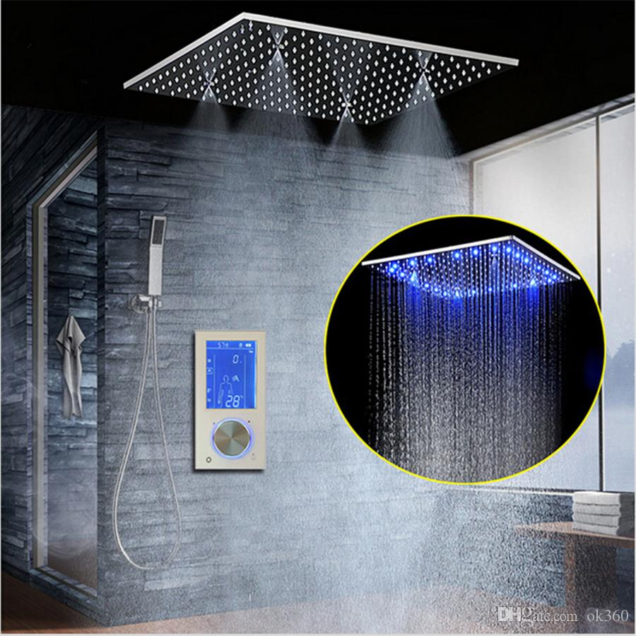 LED Intelligent Digital Display Rain Shower Set Installed in Wall 20 ...