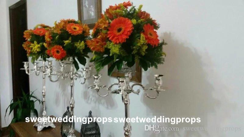 Hiçbir çiçek dahil uzun Toptan Benzersiz Düğün Metal Altın Renk Çiçek Vazo Sütun Düğün Centerpiece Dekorasyon için Standı