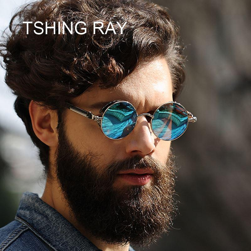 TSHING RAY Vintage Men Steampunk Sunglasses Women Fashion Gothic Style  Mirrored Retro Round Circle Punk Sun Glasses For Male Glass Frames Online  Eyeglasses ... 7b531735cafe