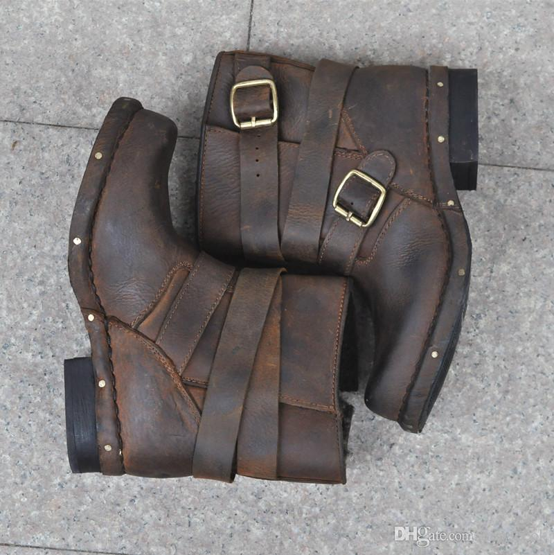entire collection low price sale pre order Jeffrey Campbell Brit Distressed Wrap Strap Booties Genuine ...