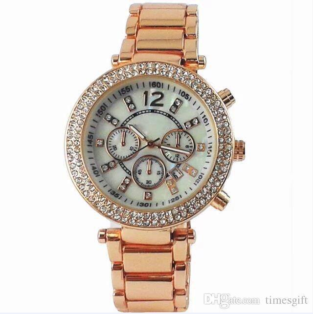 20 % 할인 탑 10 M 브랜드 다이아몬드 일본 무브먼트 쿼츠 손목 골드 스테인레스 스틸 Relojes 비즈니스 패션 남성 여성 최고 품질의 손목 시계