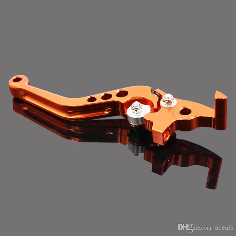 KTM Orange CNC Aluminum Brake Clutch Levers Motorcycle Racing Adjustable lever for KTM DUKE 125 200 390
