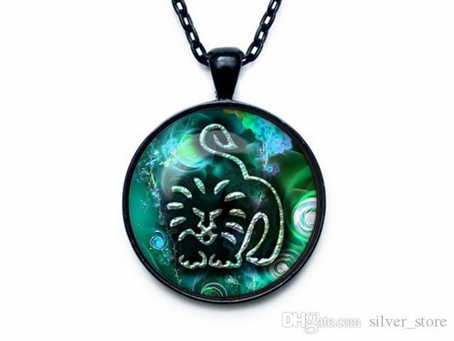 Высокое качество двенадцать сезонов время драгоценный камень стекло ожерелье кулон ювелирные изделия WFN357 с цепью смешать порядка 20 штук много