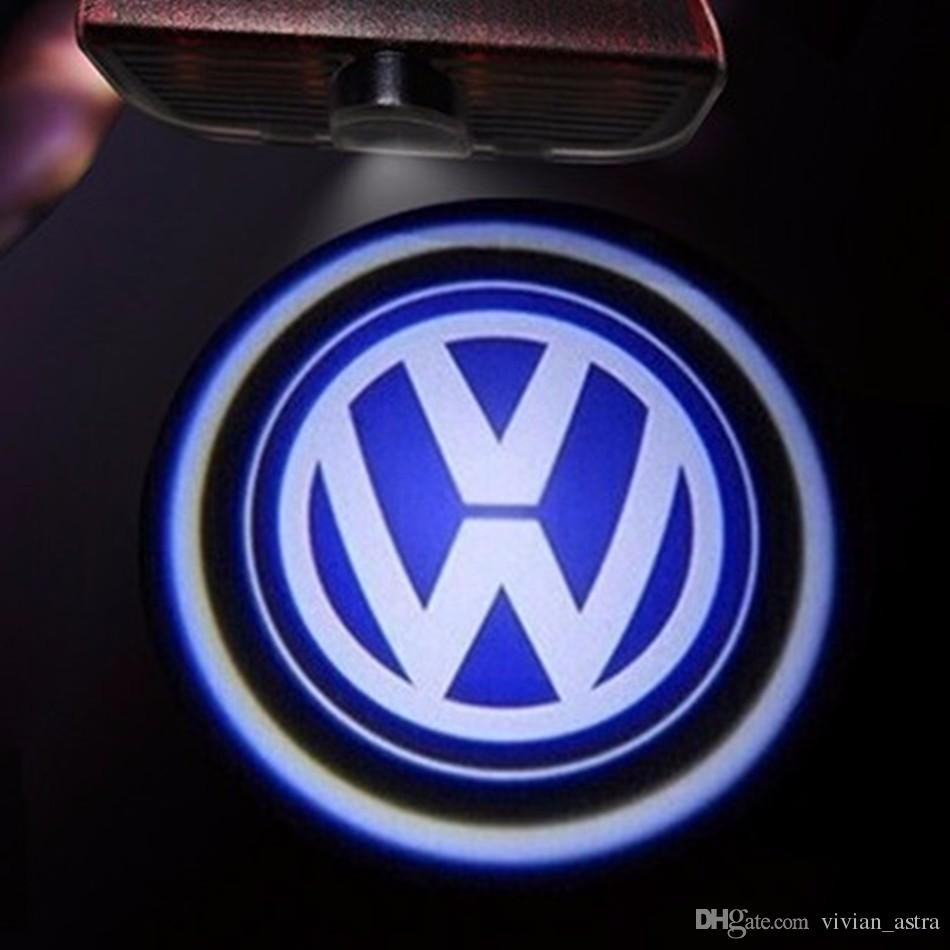 LED Door Logo Projector Light FOR VW Passat B6 b7 Golf 5 6 7 Jetta MK5 MK6 CC Tiguan Scirocco With VW R R line logo