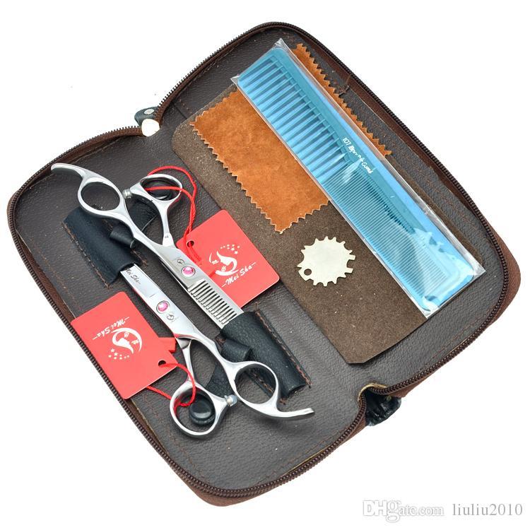 6.5Inch 7.0Inch JP440C Meisha Professional Hairdressing Scissors Set Hair Cutting Scissors Salon Hair Thinning Shears Barber Tool, HA0098