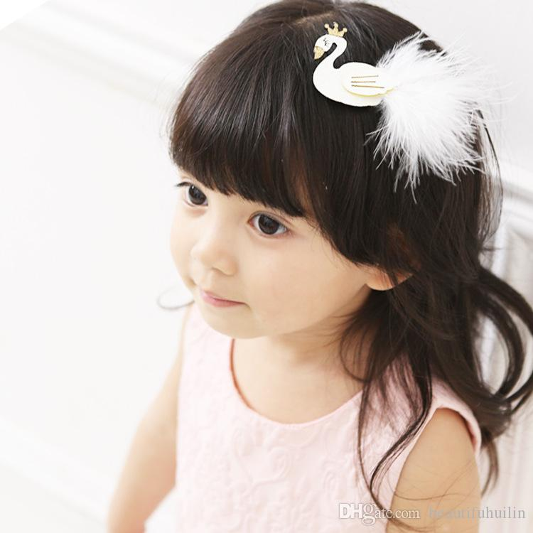 Cute Cartoon Black And White Swan Baby Hairpins Kids Hair Clips Princess Barrettes Girls Hair Accessories Beautiful HuiLin B27