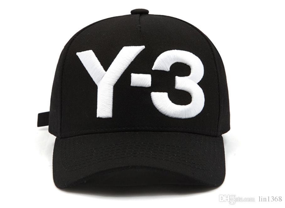 cbdbfb464 Compre New Y 3 Dad Hat Boné De Beisebol Bordado Grande Emblema Ajustável  Chapéus Strapback Y3 De Lin1368
