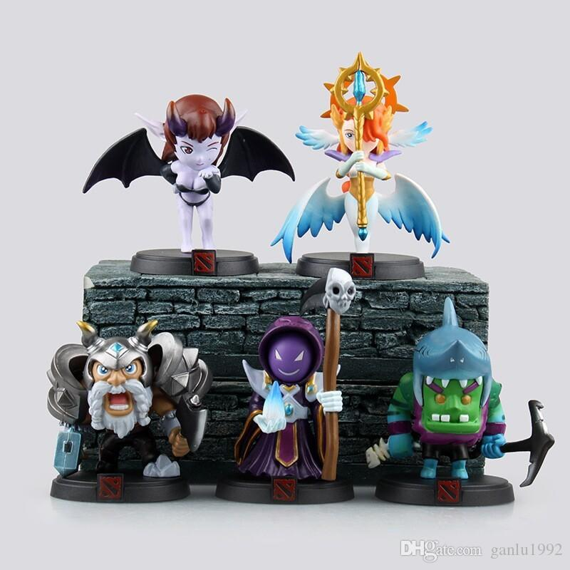 Anime Peripherals Model Queen Of Pain Toy Yucci Wrath Tide Models Boxed Set Action Figures Children Kids Decoration Collection Gift 120jw H1