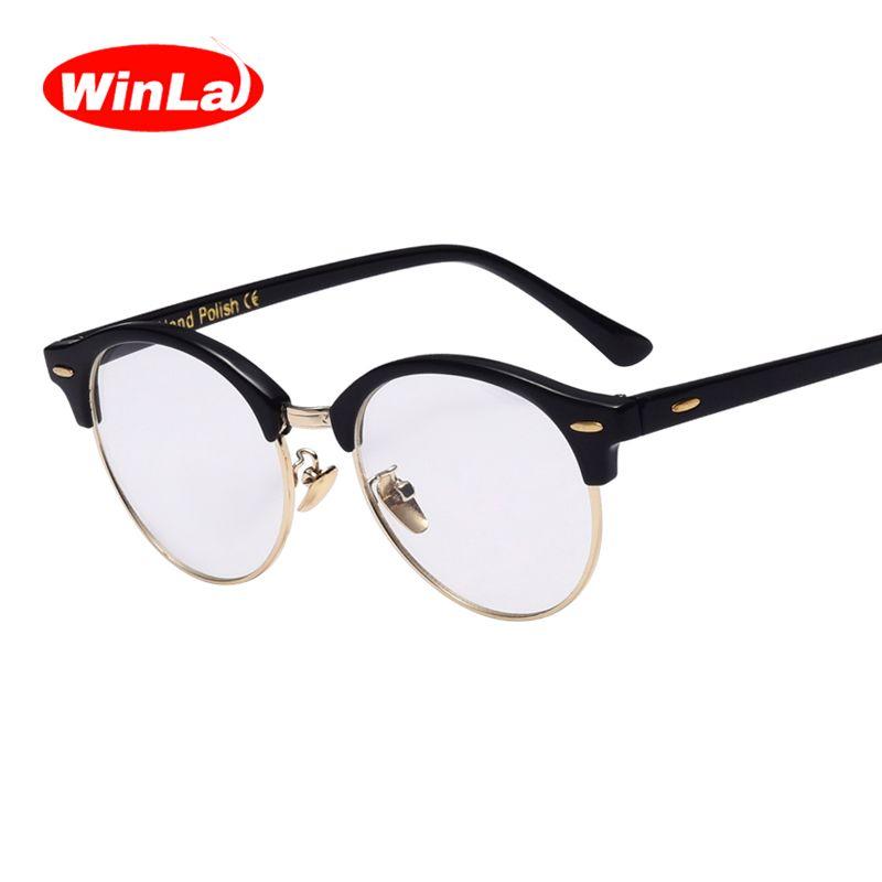 Compre Venda Por Atacado Winla 2017 Olhos De Gato Óculos Transparente  Limpar Lens Nerd Óculos Classic Designer Vintage Optical Eye Frames Óculos  Mental ... 0e1e780afc