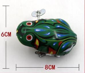 子供の古典的な錫巻を巻き上げる時計ワークのおもちゃジャンプカエルヴィンテージのおもちゃのためのヴィンテージのおもちゃ男の子のための教育送料無料YH711