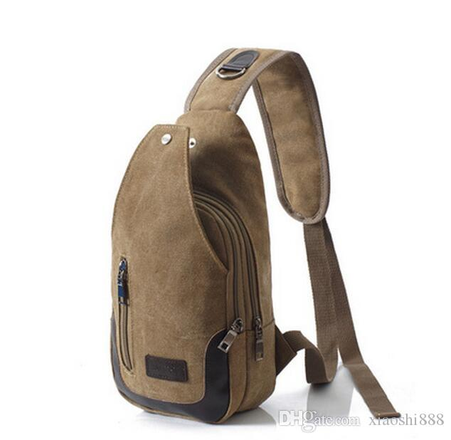 2b94e50072 New Casual Men s Canvas + PU Leather Solid Multi Pockets Messenger ...
