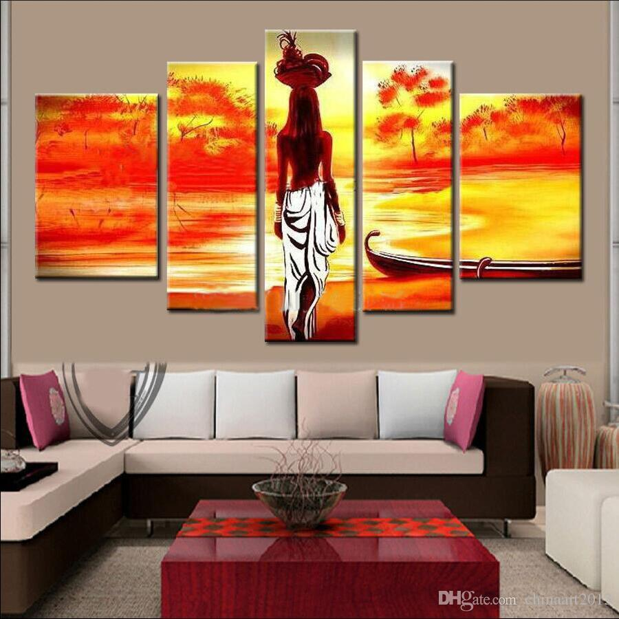Elegant 2017 Unframed Hand Painted Abstract Modern Wall Painting African Girl Home  Decorative Art Picture Paint On Canvas From Chinaart2013, $33.77 |  Dhgate.Com Part 24