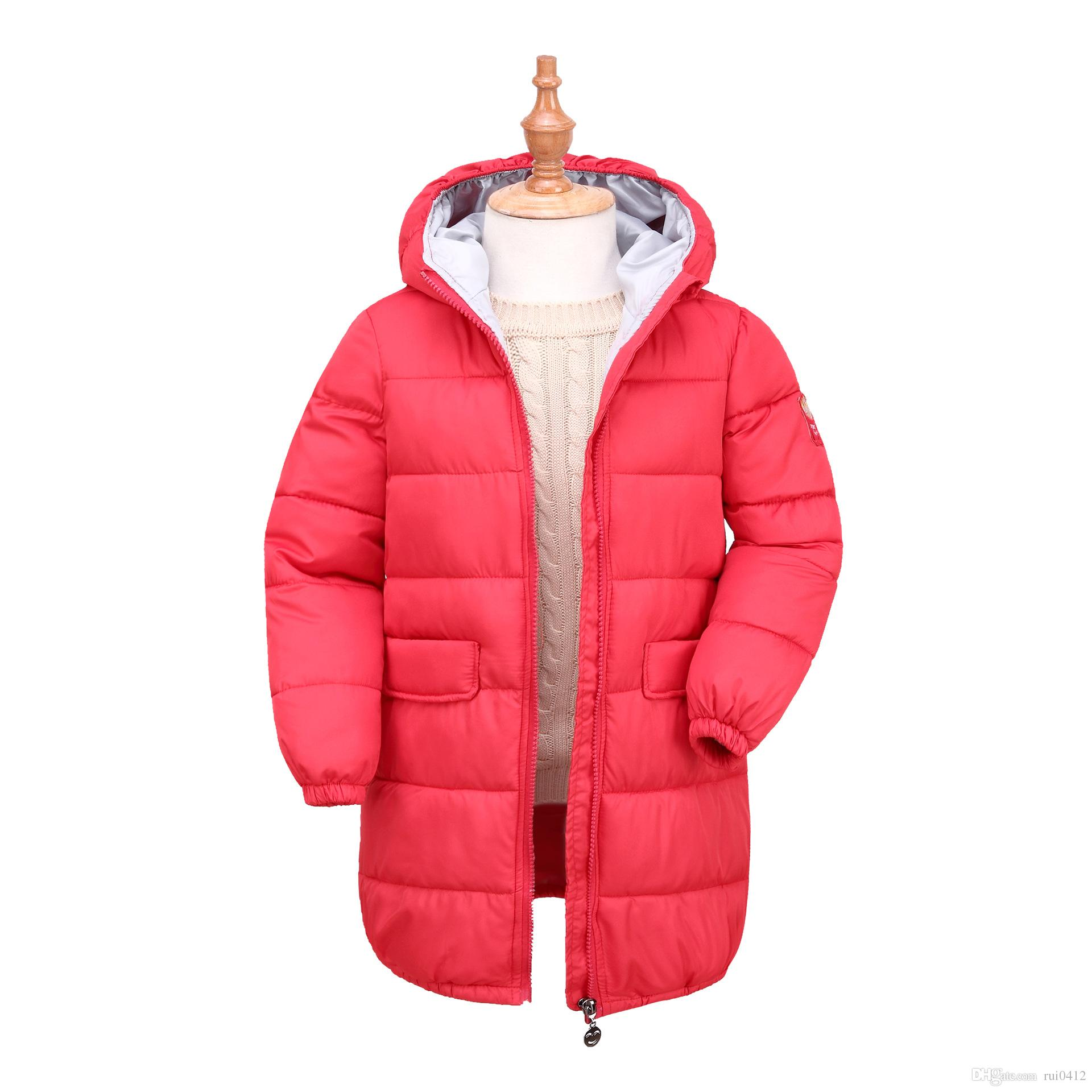 2017 New Design Baby Girls Winter Warm Long Coat Kids