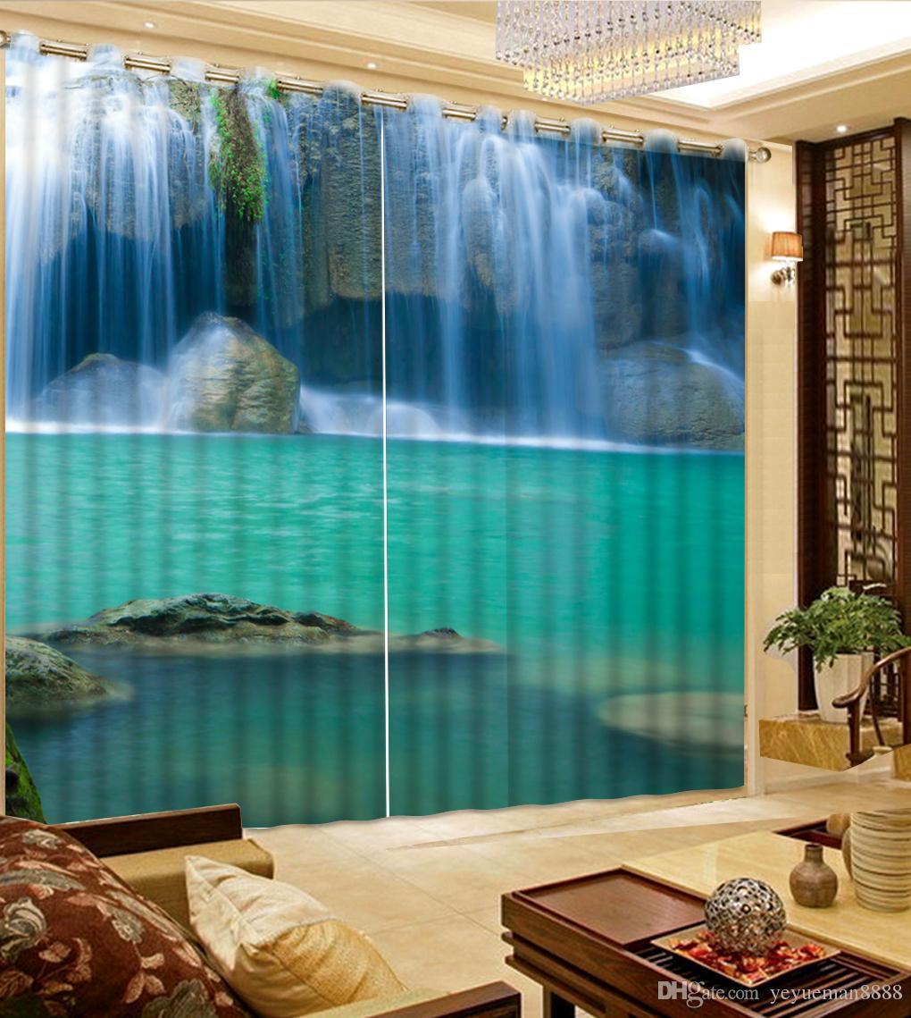 Modern moda Sırf Perdeleri Fotoğraf çalışan su Perde Oturma odası Perdeleri