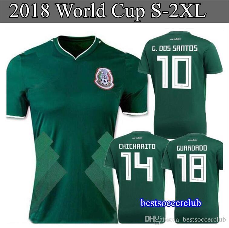 2b37fce64 ... football jerseys neymar soccer jersey 3d893 4bce9  hot plus 2xl 2017 2018  mexico world cup national team men jersey 17 18 mexico home