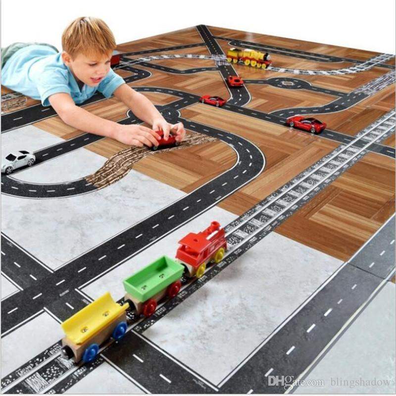 2017 mideer 5cm kids road washi tape diy car track play vehicle train railway motorway indoor creative toys for children sticky paper from blingshadow