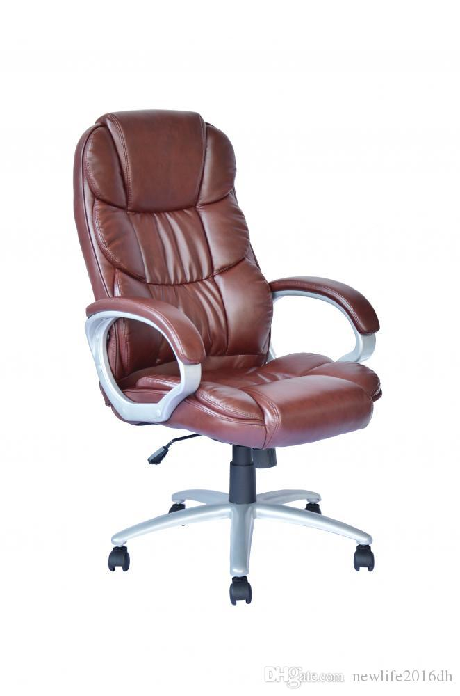 2018 High Back Leather Executive Office Desk Task Computer Chair W Metal Base From Newlife2017dh 83 3 Dhgate Com