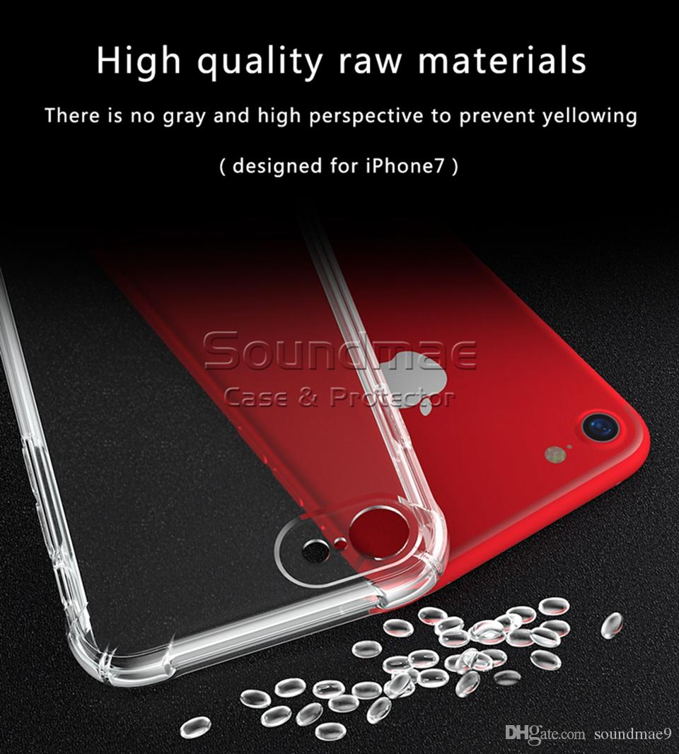Ultra thin Clear Transparent Silicone Matte Back Cover Protection Rubber Phone Case For iphone X 8 7 6s Plus Samsung S9 S8 Plus Opp Soundmae