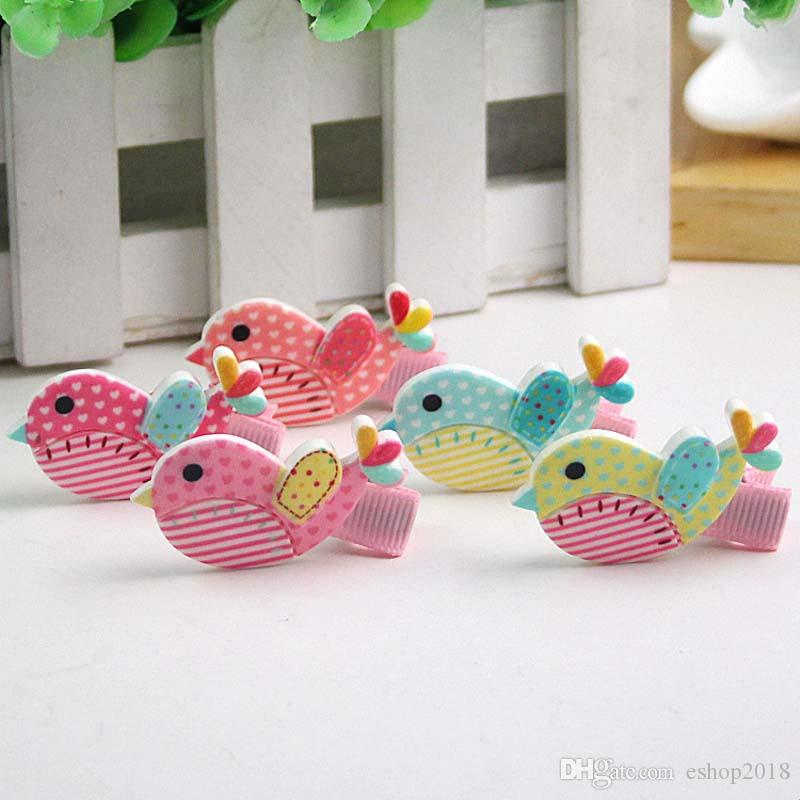 Girls Hair Clips Acrylic birds Cute Felt Animals Cartoon Baby Felt Clips Animals Felt Clips Colors Barrettes accessory