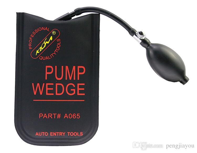 KLOM Pump Wedge Black Piccolo / Medio / Grande / Porta a forma di U Set di grimaldelli auto Kit di bloccaggio auto Strumenti di prelievo autoveicoli