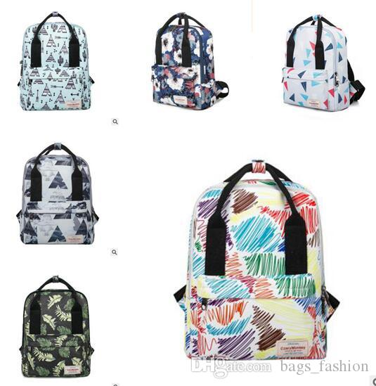 Backpacks Unisex Leaves Flowers Bags Fashion Canvas Bags Teenager School Bag  Women Men Backpack High Quality Travel Bag 8 Style Rolling Backpack Gym  Bags ... 2f7f13926d60e
