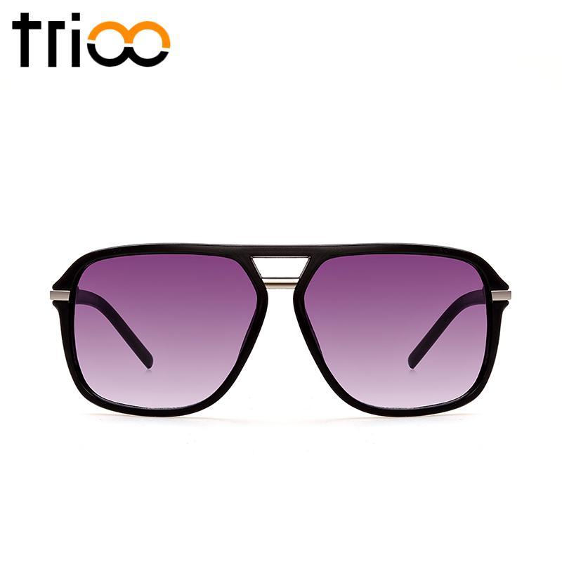 74d2d34f8f Wholesale TRIOONew Stylish Oversized Sunglasses For Men Large Black Lens  Lunette De Soleil Classic Simple Man Sun Glasses Big Frame Shades Heart  Sunglasses ...