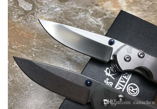 Бесплатная доставка Крис Рив Sebenza 21 складной нож Stonewashed D2 Лезвие Титана Открытый Отдых Охота Карман Выживания EDC Инструмент