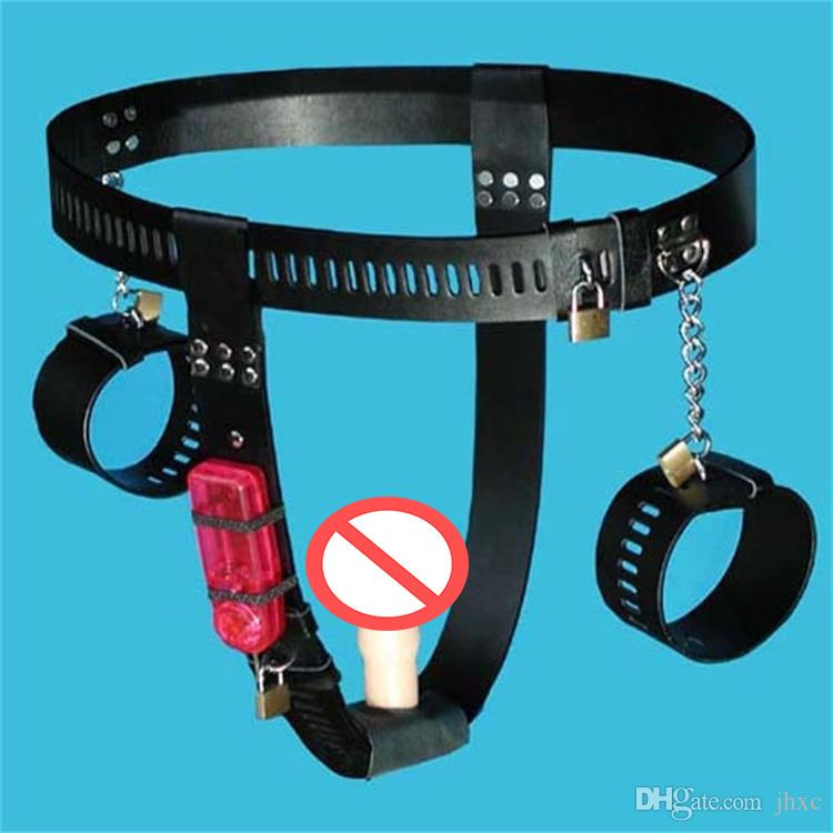 Sex Toys PU Leather Female Chastity Belt Device Pants Sexy Vibrator Dildo  Anal Vaginal Plug Sex Toys For Women Kids In Bondage Leather Pants Bondage  From ...