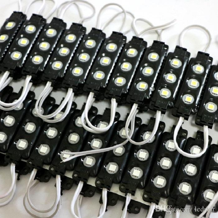 Moduli LED RGB nero 10ft =  In plastica ABS 5050 SMD Led Moduli 3 Led / 1.2W Led Backlights String