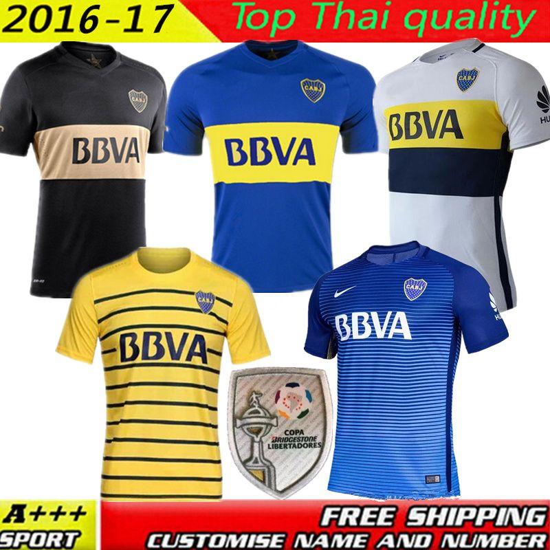quality design f93a5 9b6a4 boca juniors blank home long sleeves mens adults 2016 2017 ...