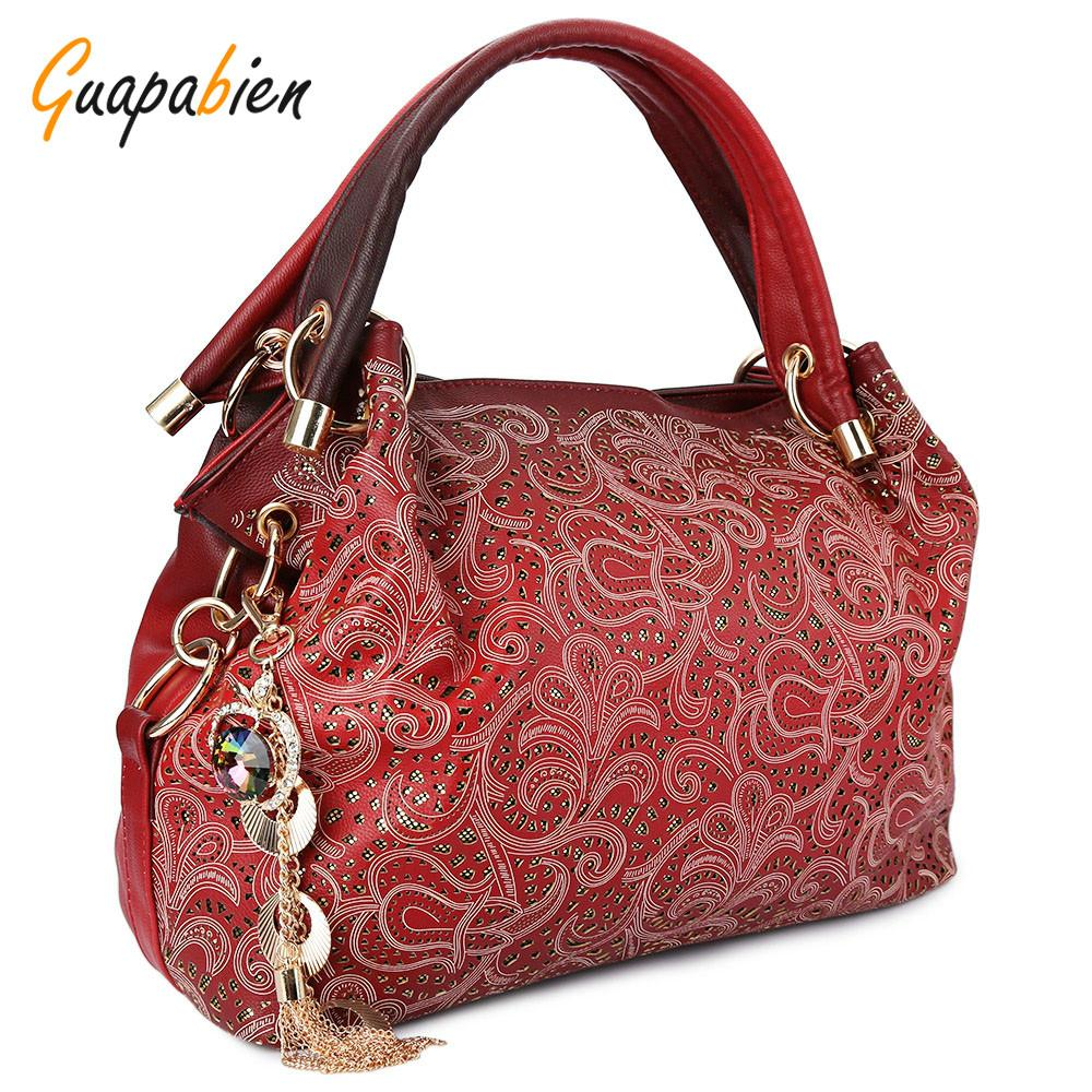 Wholesale Guapabien Fashion Brand Wedding Women Bag Ombre Shoulder Bags OL  Party PU Leather Tote Bag Red Gray Hollow Out Ladies Handbag Hobo Handbags  From ... 65993d328e6a7