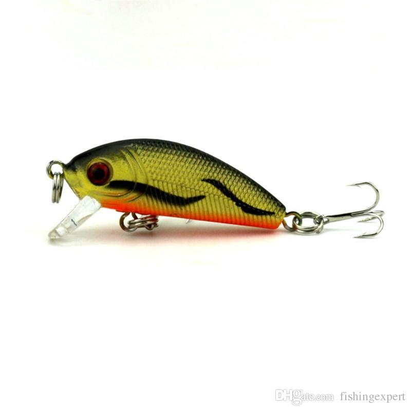 Topwater Minnow Fishing Lure 6.8cm 4.8g Lifelike Hard Bait Mini Crankbait Plastic Lure for Carp Fishing