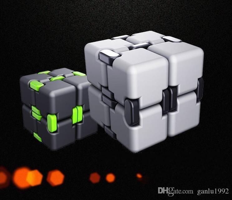 Four Colors Fidget Toys Reduce Pressure Cube Wear Resistant Finger Toy Anti Stress Sensory Infinity Cubes Creative ABS Material 14oh B
