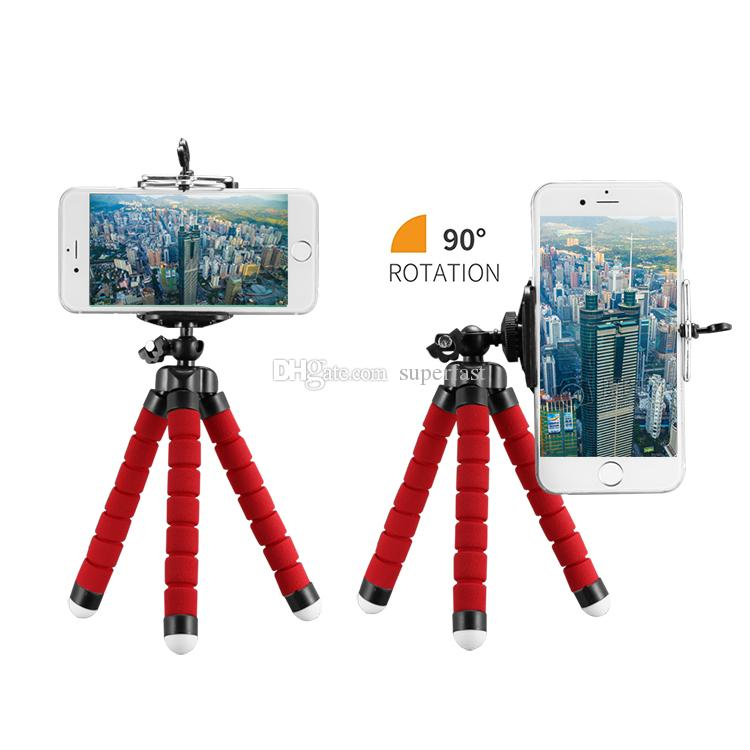 Flexible Octopus Stativ Handyhalter Universal Ständer Halterung für Handy Auto Kamera Selfie Einbeinstativ mit Bluetooth Remote Shutter