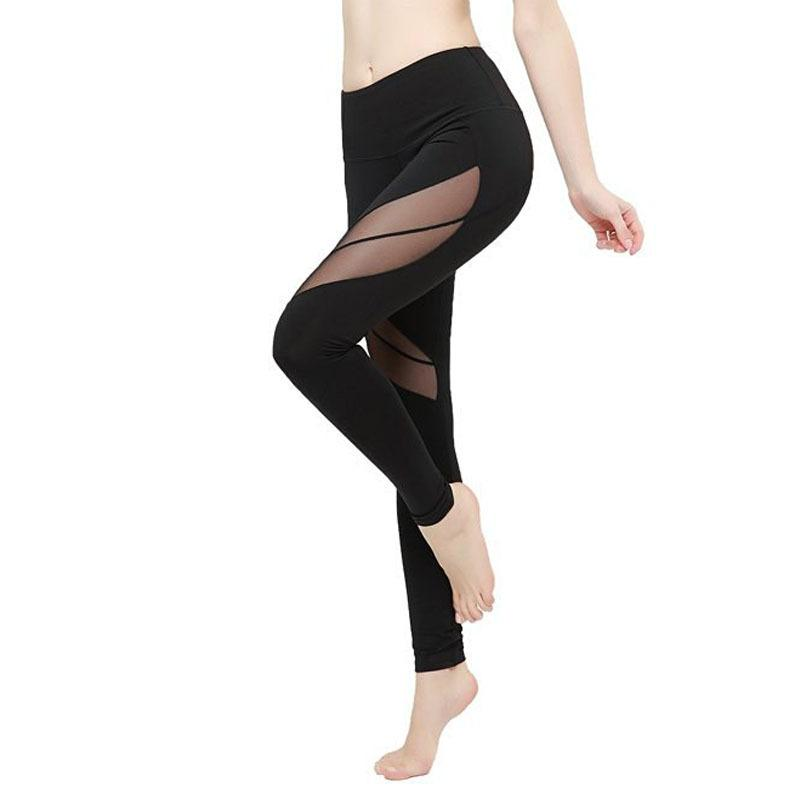 f121a28894c9 Ropa Deportiva Mujer Transparent Women Sport Leggings Gym Mesh Splice Sexy  Running Tights Gym Clothing Fitness leggin Yoga Pants